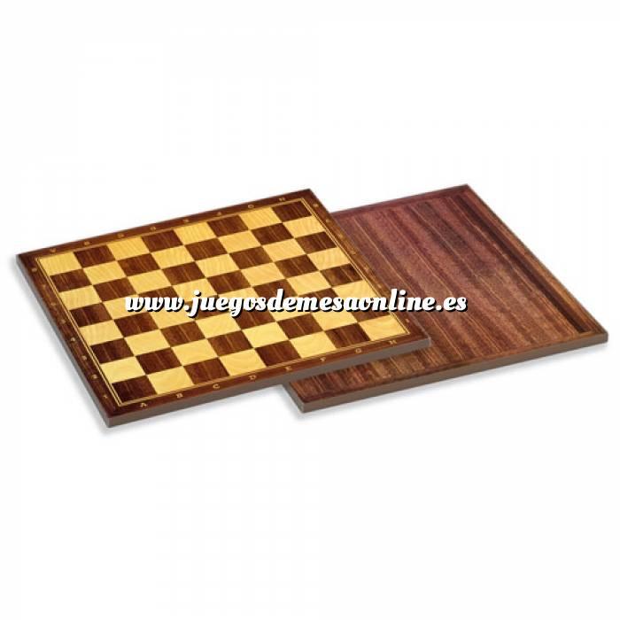 Imagen Ajedrez y damas Tablero ajedrez madera 40X40 cm