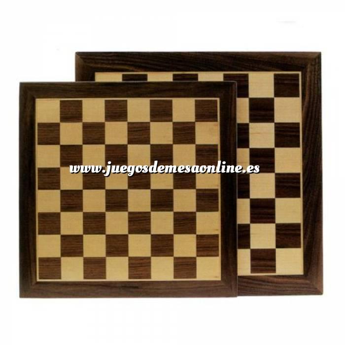 Imagen Ajedrez y damas Tablero ajedrez marquetería 35X35 cm