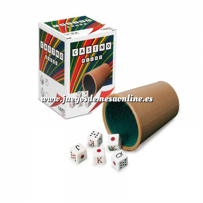 Imagen Dados Cubilete forrado y dados de poker