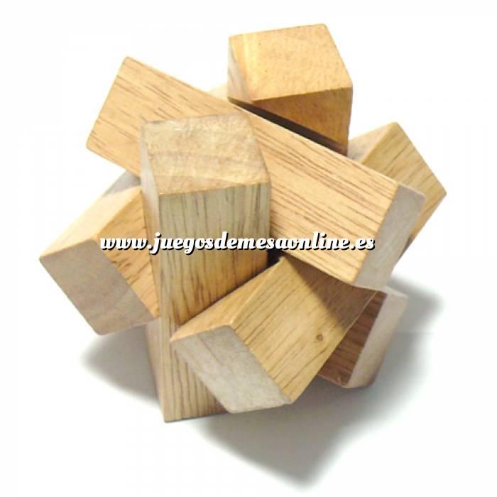 Imagen De madera Cruz madera hexagono