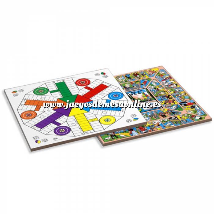 Imagen Parchís y Oca Tablero parchís 6 jugadores y Oca. 40x40 cm