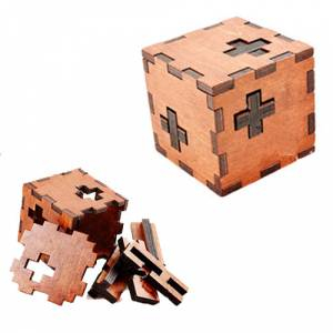 De madera - Cubo puzzle 3 cruces