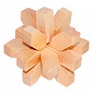 De madera - Estrella 9 piezas madera