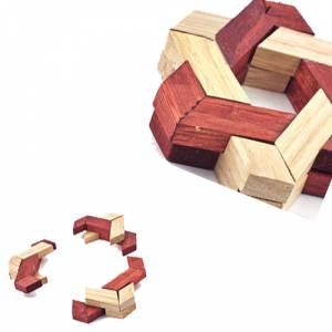 De madera - Estrella Hexagonal - Rompecabezas de ingenio