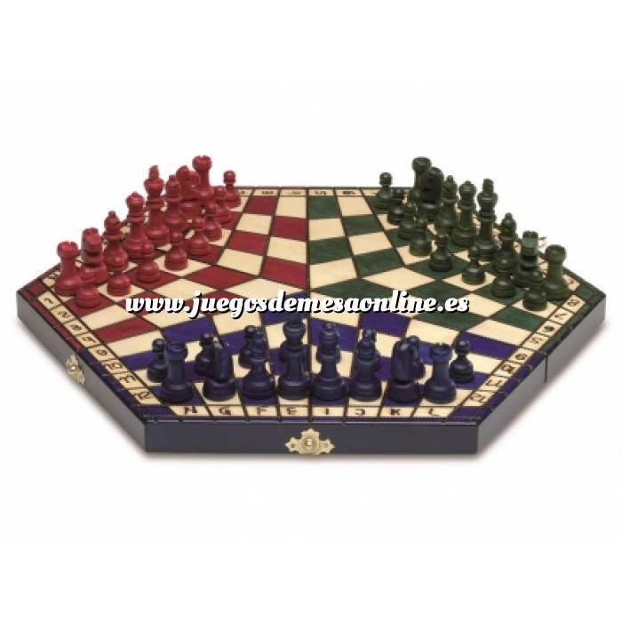 Imagen Ajedrez y damas Ajedrez 3 jugadores Plegable