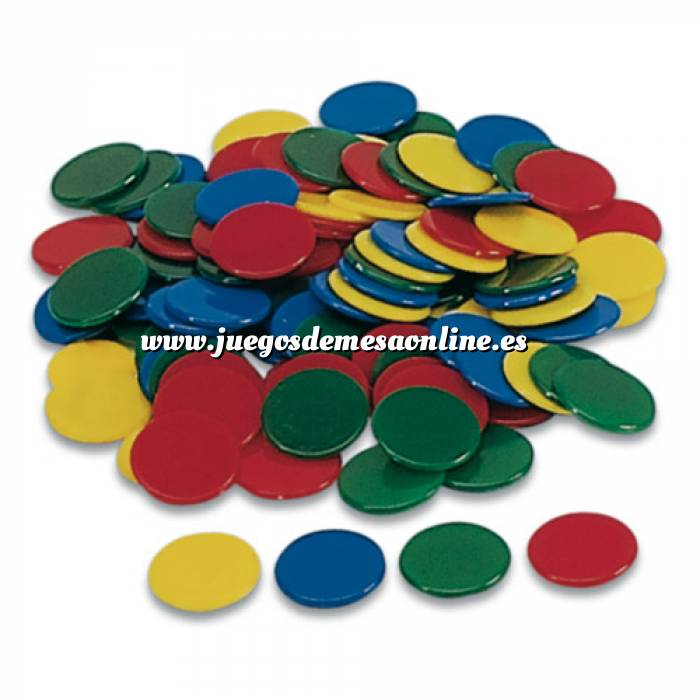 Imagen Fichas Bolsa 100 fichas de colores 22 mm (Últimas Unidades)