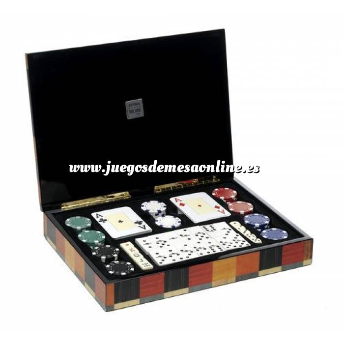 Imagen Maletines Poker Caja Multijuegos Póker, Dominó, dados...Deluxe Moderno
