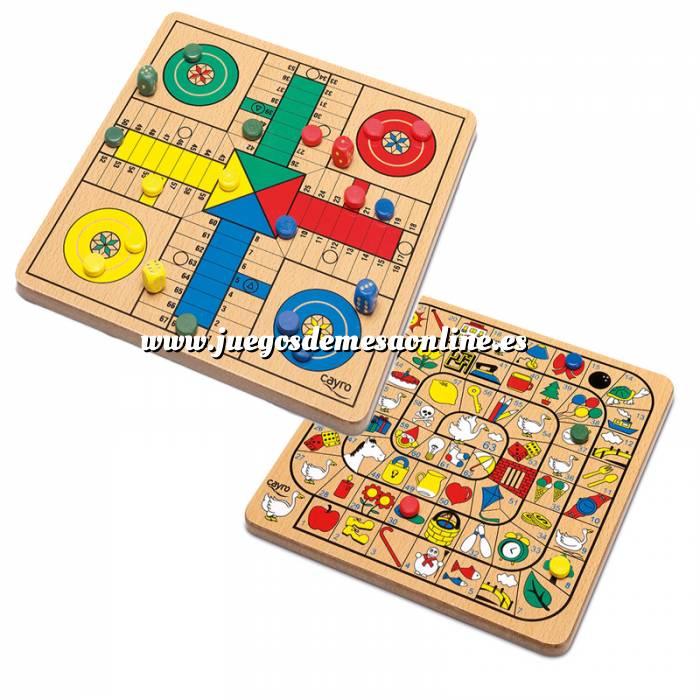 Juego parch s oca madera con fichas y dados for La resistencia juego de mesa