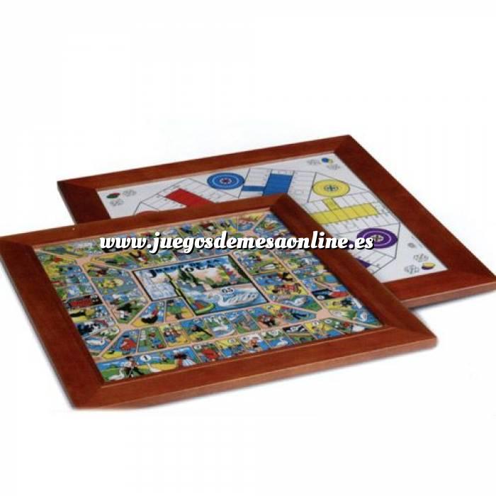 Imagen Parchís y Oca Tablero parchís 6 jugadores y Oca. 48x48 cm