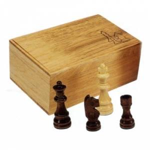 Ajedrez y damas - Fichas de ajedrez madera medianas