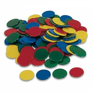 Fichas - Bolsa 100 fichas de colores 15 mm