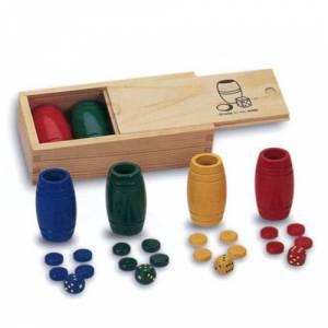 Parchís y Oca - Accesorios Parchís / Oca para 4 jugadores en madera