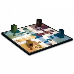 Parchís y Oca - Tablero parchís 4 jugadores. 40x40 cm. Deluxe Moderno